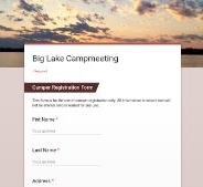 Big Lake Campmeeting Online Youth Camp Registration Form